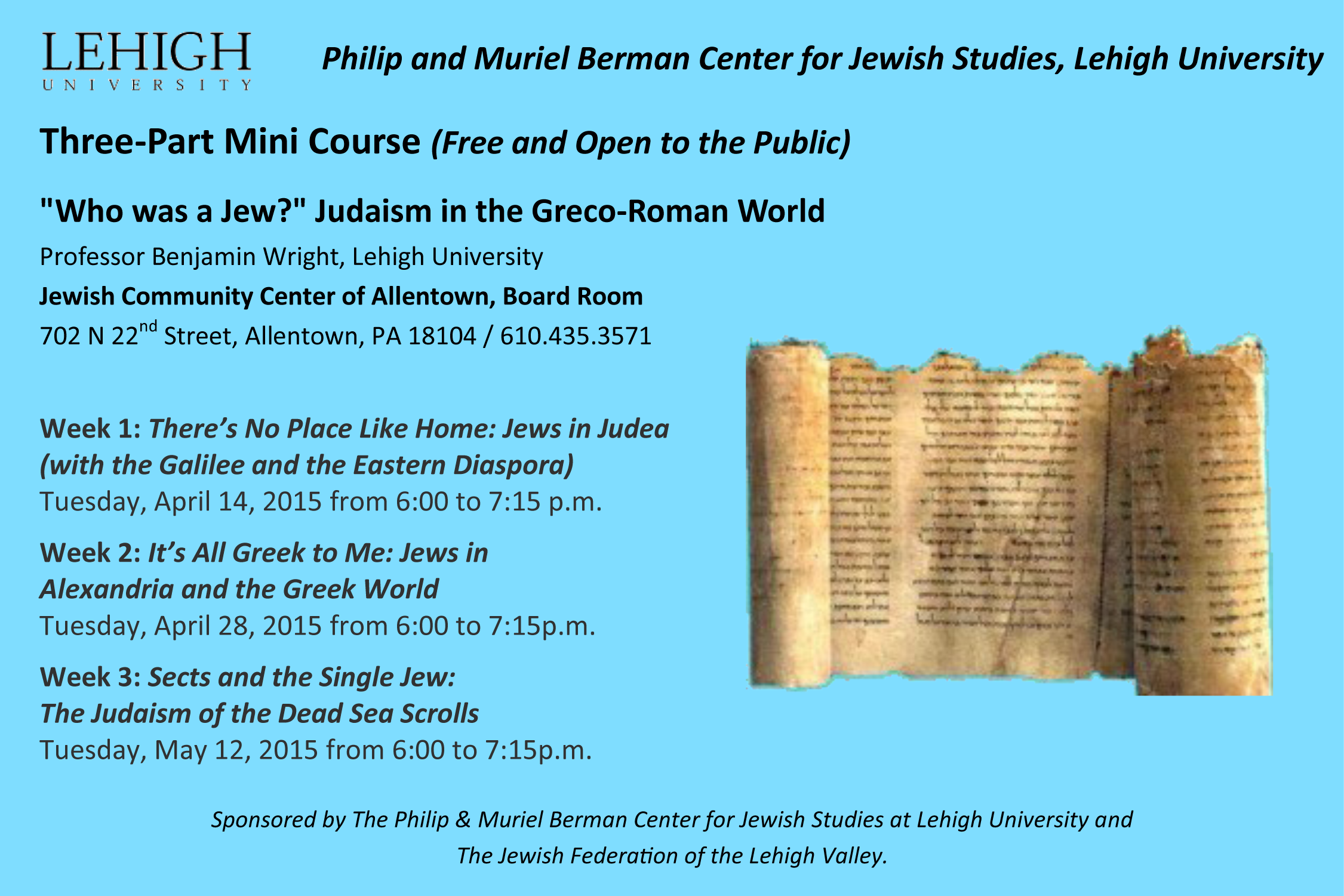 Philip and Muriel Berman Center for Jewish studies